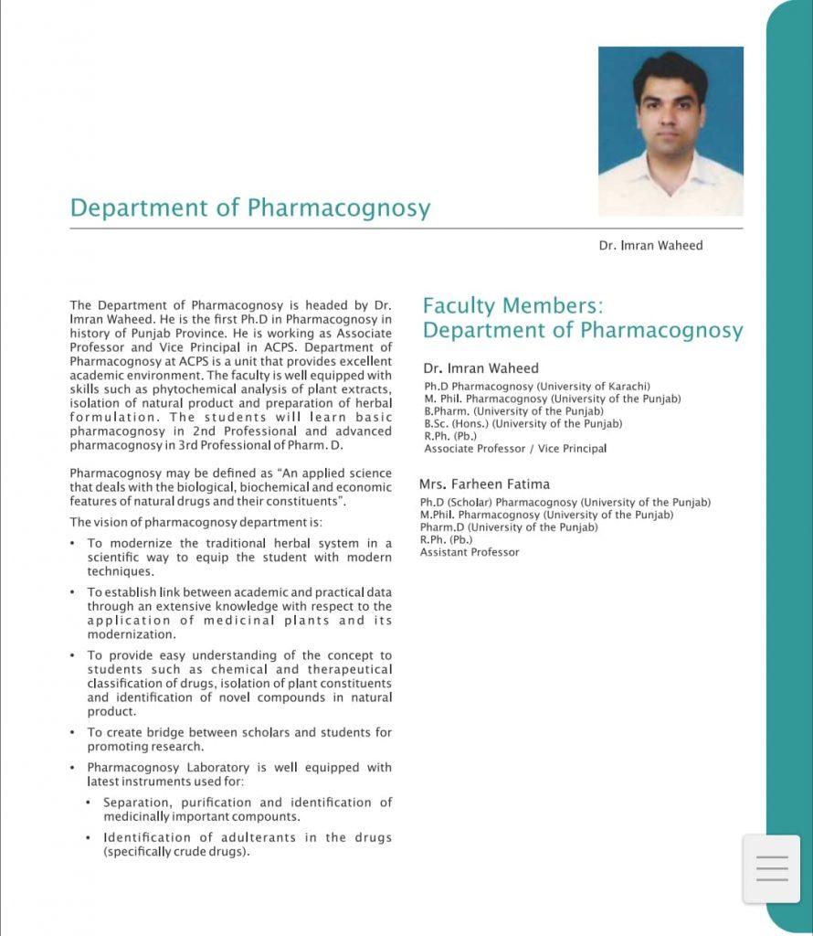 Pharmaceutics department