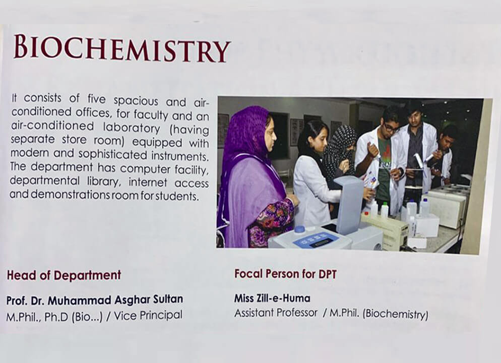 biochemistry dpt